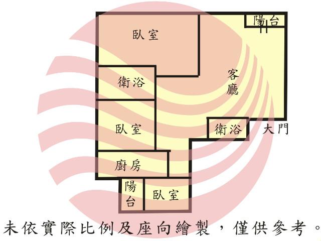 新悅城裝潢美三房平車,台南市安平區健康路三段